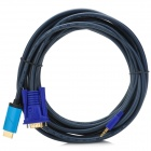 htvga5m 1080P HDMI to VGA + 3.5mm Audio Conversion Cable - Deep Grey + Blue + Purple (500cm)