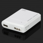 Portable 4 x AA Charger w/ USB Cable for Samsung i9300 / i9500 / N7100 - White