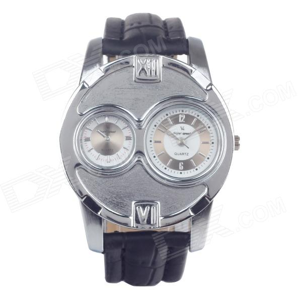 V6 Super Speed V0105 Fashion Men Leather Band Quartz Wrist Watch - Black + Silver (1 x LR626) кама nf 202 215 75 r17 5 126 124 m рулевые оси