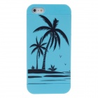 Fashion Coconut Tree Pattern Detachable Back Case for Iphone 5 - Blue+Black
