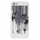 Fashion Zebra Pattern Detachable Back Case for Iphone 5 - Black+ White
