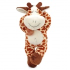 Faule Nette Kuh Stil Hands-in-Head Gefüllte PP Cotton Toy w / Suction Cup - Braun + Beige + Weiß