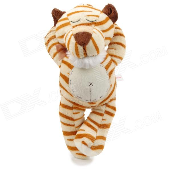 Cute Sleeping Tiger Plush Doll Toy /w Suction Cup - White + Beige + Brown
