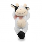 Bowknow MIlk Cow Plush Doll Toy /w Suction Cup - White + Beige + Black