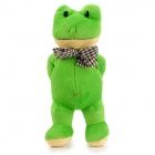 Bow-tie Frog Gentleman Plush Doll Toy - Green + Yellow + Black