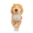 Cute Corrupt Sleep Lion Style PP Cotton Doll Toy w/ Suction Cup - Brown + Beige