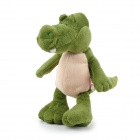 Cute Dinosaur Style Short Plush PP Cotton Doll Toy for Home / Car - Green + Beige