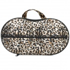 Stylish Leopard Pattern Style Portable Travel Nylon + EVA Underwear Bra Storage Bag - Leopard