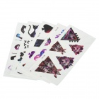 YM-T071-T075 5-in-1 Fashion Water-resistant Tattoo Paper Stickers Set - Multicolored (1 x 5 PCS)