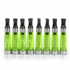 CE4 Electronic Cigarettes Atomizer w/ 0.2~1.6ml Scale - Green + Silver (8 PCS)