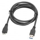 Millionwell 01.0333 USB 3.0 Type-A Male to Micro-B Male HDD Data Cable - Grey (1.8m)