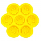 Silicone Smile Face Style 7-Cube Ice Cubes Trays Maker DIY Mould - Yellow