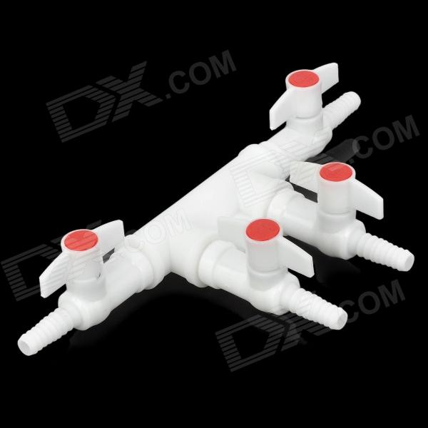 E5YK 3-Way Air Pump Tube Splitter Manifold Taps Switch Valve for Fish Tank / Aquarium - White + Red легенды и были гороховского переулка