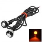 1.5W 80lm Yellow Light Eagle Eye Daytime Running Lamp (2 PCS / 12V)