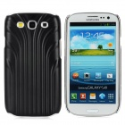 Stripe Style Protective PVC Electroplating Case for Samsung Galaxy S3 i9300 - Black + Silver