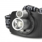 Rechargeable 2-LED 60lm 3-Mode White Outdoor Headlamp - Preto + Prata