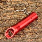 Multi-Functional 3-LED White Flashlight + Bottle Opener + Keychain Set - Red (3 x LR44)