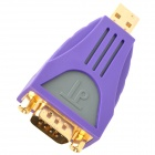 MILLONWELL USB2.0 to RS232 Serial Port Connector Adapter Converter - Purple