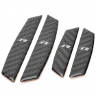 Carbon Fiber Bumper / Anti-Collision Strips Stickers for Volkswagen CC - Black (4 PCS)
