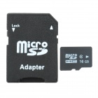 High Speed Memory TF Card w/ TF to SD Card Adapter - Black + White (16GB / Class 10)