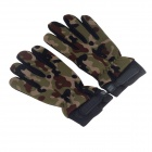 Stylish Outdoor Non-slip Protective Full-finger Gloves -Camouflage (Pair / Free Size)
