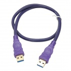 Millionwell 01.0431 Gold-Plated USB 3.0 Male to Male Data Cable - Purple (0.6m)