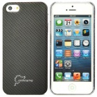 Simple Protective ABS Back Case for iPhone 5 - Black Grey