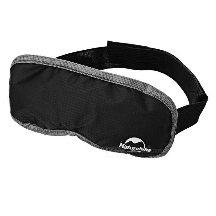 Naturehike-NH Travel Nylon Sleeping Eyeshade w/ Dried Lavender - Black lovely travel nap cartoon crown long eyelashes eyeshade sleep mask