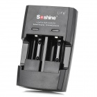 Soshine S5-Fe Car Charger + Battery Charger + US Power Adapter for RCR123 / CR2 + More - Black