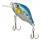 HAI NUO 7g Fat Weever Style Plastic Fishing Bait / Lure - Blue + Silver