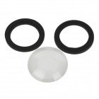 Waterproof Case Lens + Rubber Ring for Gopro Hero1 / Hero2 - Black + Transparent