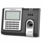 "ZKSoftware X628 3.0"" LCD Double-Engine Fingerprint Reader Time Attendance Machine - Black + Silver"