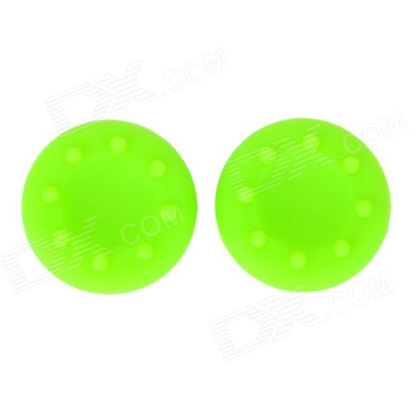 Non-Slip Silicone Joystick Caps for Xbox360 / PS3 / PS2 - Green (2 PCS)