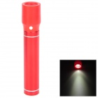 Cylinder-Shaped External 2600mAh Power Battery Charger w/ USB Flashlight for Cell Phone - Red