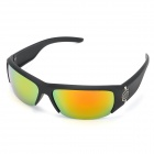 Men's UV400 Protection PC Lens Sunglasses - Black + Golden