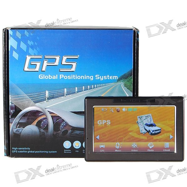 4.3 LCD 372MHz CPU Windows CE 5.0 GPS Navigator w/FM Transmitter + 4GB Maps SD