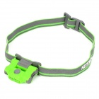 NEXTORCH ECO STAR 30lm 4-Mode 2-LED White + 1-LED Red Headlamp - Green + Grey (2 x AAA)