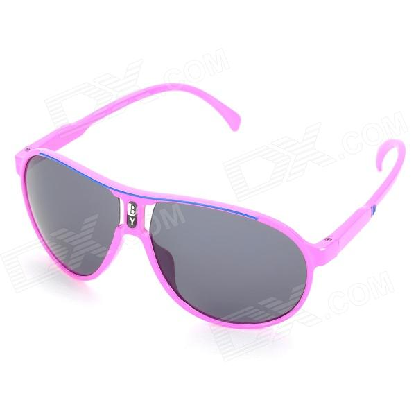 UV400 Protection Children Sunglasses - Pink - DXSunglasses<br>Brand No brand Quantity 1 Gender Unisex Suitable for Children Protection UV400 Frame Color Green Lens Color Grey Frame Material ABS Lens Material Resin Lens Height 50 mm Lens Width 53 mm Bridge Distance 20 mm Overall Width of Frame 125 mm Temple Length 120 mm Packing List 1 x Children sunglasses 1 x Case<br>