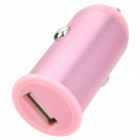 2.1A Car Cigarette Powered Charger Charging Adapter for Iphone / Ipad / Cell Phone / MP3 - Pink