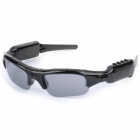 YJMP3 Fashionable Multifunctional Sunglasses w/ TF Card MP3 + Camera - Black + Gray (16GB Max.)