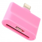 30pin / Micro USB Female to 8pin Lightning Male Charging Adapter for iPhone 4 / 5 / Samsung - Pink