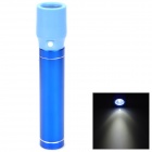 Cylinder-Shaped External 2600mAh Power Battery Charger w/ USB Flashlight for Cell Phone - Dark Blue