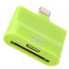 30pin / Micro USB Female to 8pin Lightning Male Charging Adapter for iPhone 4 / 5 / Samsung - Green