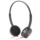 MS-59 Stylish Stereo Headphones Headset w/ Microphone for Iphone / Ipad / Cell Phone - Black + Red
