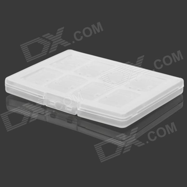 18-in-1 ABS PS Vita Game Card Case - Transparent White 28 in 1 game memory card case holder storage box for nintendo 3ds xl