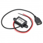 DC 6~24V to USB DC 5V Car Voltage Step Down DC Converter Module - Black + Red