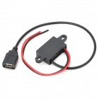 DC 7~42V to USB DC 5V Car Voltage Step Down DC Converter Module - Black + Red