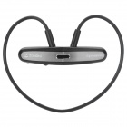 Zonoki W86 Sports Wireless Headband MP3 In-Ear Earphone - Black + Silvery Grey (4GB)