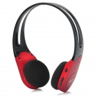 S730 Headband MP3 Stereo Headset  w/ TF / FM Radio - Black + Deep Red
