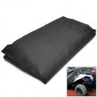 QP020 Folding Polyester Sun-proof Cover for Motorcycle / ATV - Black + Silver (Size L)